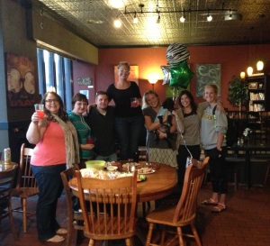 Thanks to all of my coworkers for surprising me with a going away party!