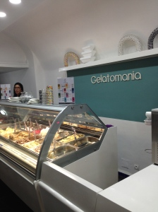 Gelato is pretty common and delicious around here. Flavors include varieties like Mojito and Fig Sorbet (Sorbet de Figue).