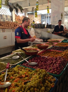 One of my favorite parts of the market! I could live off of cornichon (shout out to Chris) and olives (shout out to Kelsea). This man was so outgoing and helpful; one of my favorite sellers at the market.