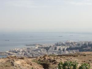 The view driving along Chemin Sidi Ben Nour.